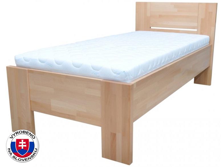 Jednolůžková postel 120 cm - Styler - Nikoleta - plné čelo (masiv)